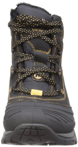 Merrell SNOWBOUND MID WTPF - Zapatos de senderismo de cuero mujer Negro (midnight)