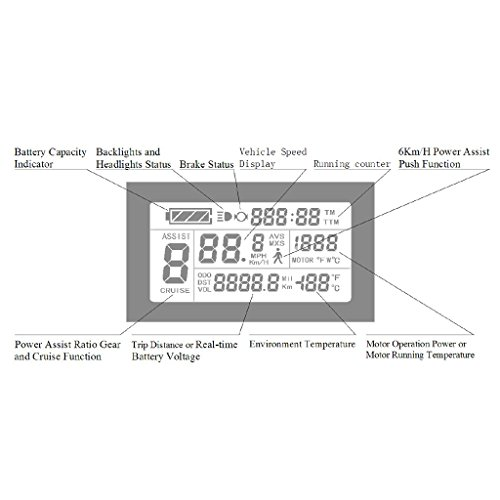 ZOOMPOWER 24v 36v 48v intelligent kt lcd lcd3 ktlcd3 control panel display electric bicycle bike parts kt controller by ZOOMPOWER (Image #6)