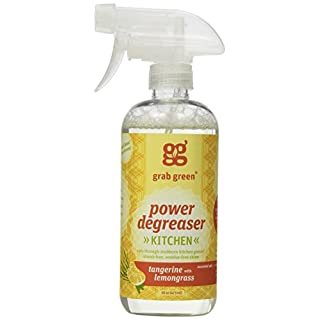 Grab Green Natural Power Degreaser, Biodegradable, Residue & Streak-Free Finish, Fragrance Free, 16 Ounce Bottle (3-Pack)