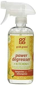 Grab Green Natural Power Degreaser Cleaner, Tangerine with Lemongrass, 16 Ounce (Pack of 2)
