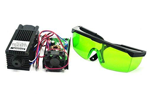 Powerful 2W 445nm 450nm Blue Laser Diode Dot Module 2000mw Engraver w/ 405nm Goggles by sunshine-electronics