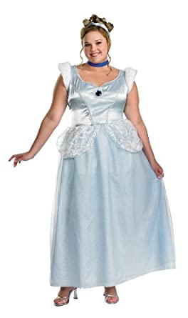 Amazon.com: Cinderella Costume - Plus Size 22-24 - Plus Size 22-24 ...