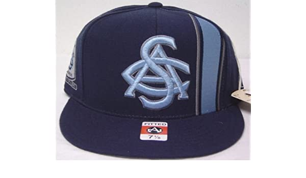 30c4f286 Amazon.com : Size 8 HBCU Navy Blue Embroidered Throwback Black Fives Smart  Set Athletic Club of Brooklyn Fitted Cap : Sports Fan Baseball Caps : Sports  & ...