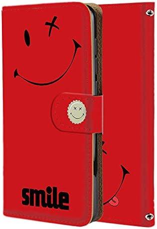 Xperia 1 (SO-03L・SOV40・802SO) スマホケース 手帳型 ミラータイプ [ペケスマイル・レッド] ばってんすまいる ニコちゃん smile エクスペリア ワン スマホカバー 携帯ケース [FFANY] batusmile 190942m