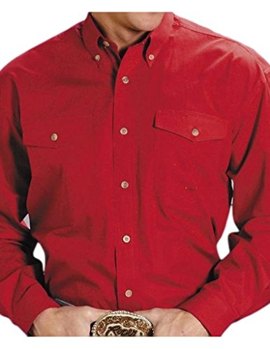 (Roper Men's Amarillo Collection Western Shirt Red XX-Large)
