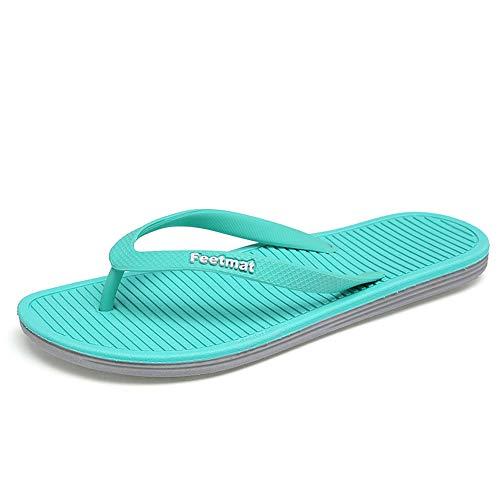 QANSI Women's and Men's Athletic Flip Flops Thong Sandals Blue/Gray Size ()