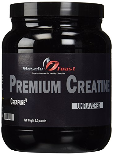 Creapure Creatine Monohydrate Powder by Muscle Feast | Premium Pre workout or Post workout | Easy to Mix And Gluten Free (2lb, Unflavored)