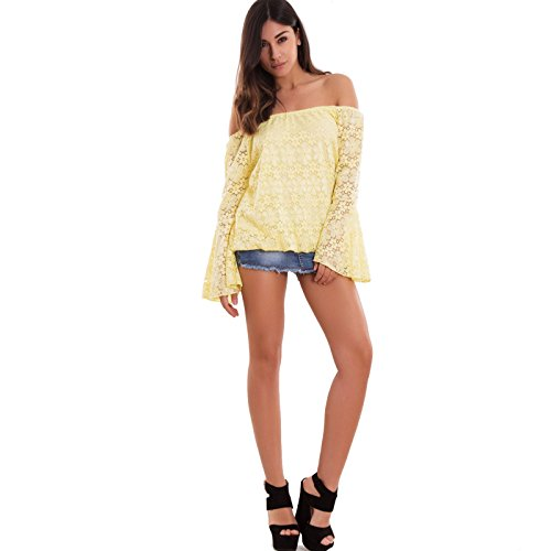 Toocool - Camiseta de manga larga - para mujer amarillo
