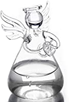 SODIAL Praying Angel Vases Crystal Transparent Glass Vase Flower Containers Hydroponic Containers Home Decorations Decor