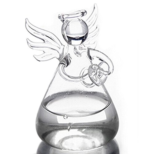 - SODIAL Praying Angel Vases Crystal Transparent Glass Vase Flower Containers Hydroponic Containers Home Decorations Decor