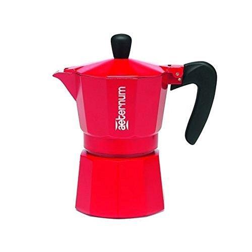 Bialetti Aeternum: Coffee Maker ''Allegra'' 3-Cups RED [ Italian Import ] by Bialetti