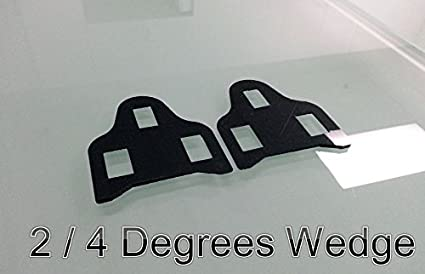 WEDGE shim spacer for PowerTap pedal system cleat 2//4 degrees