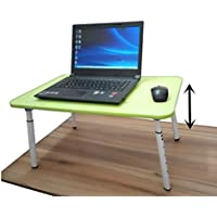 Adjustable Standing Desk Computer Laptop Stand Small Folding table Bed Tray Writing Desk for Bed Couch Sofa (green)