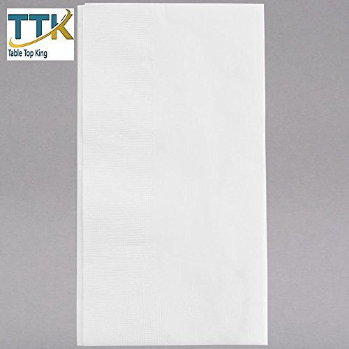 15'' x 16 3/4'' White 1-Ply Customizable Dinner Napkin - 3000/Case by TableTop king by TableTop King