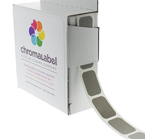 "1/2"" x 3/4"" Gray, Square Color-Coding Stickers 