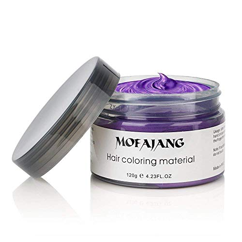 MOFAJANG Unisex Hair Wax Dye Styling Cream Mud Upgrated Natural Hairstyle Color Pomade Washable TemporaryParty Cosplay Daily Use  Purple