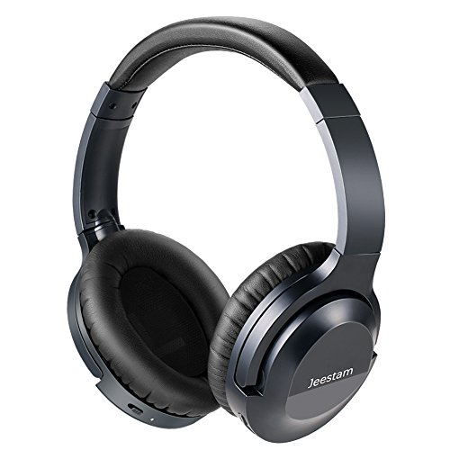 Jeestam Active Noise Cancelling Wired/Wireless Bluetooth Headphones with Microphone, Comfortable Protein Earpads Rotatable, Over Ear Headset Hi-Fi Stereo Deep Bass for Travel Work PC TV Phone (black) by Jeestam (Image #7)