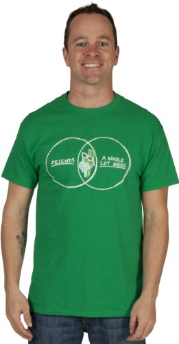 80sTees Best Friend & More Denver The Last Dinosaur T-Shirt in Green - Large