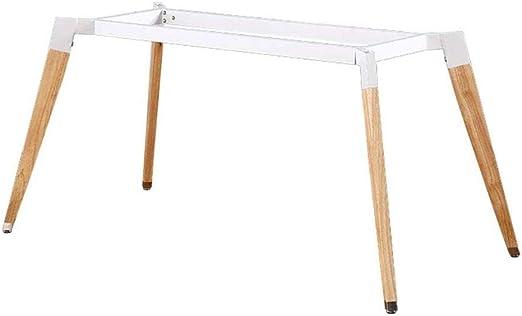 Base de escritorio mesa de hierro de madera maciza patas de la ...