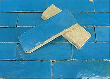 20stk Cotto Brikett Bodenplatte Hellblau Bodenfliesen Fliesen