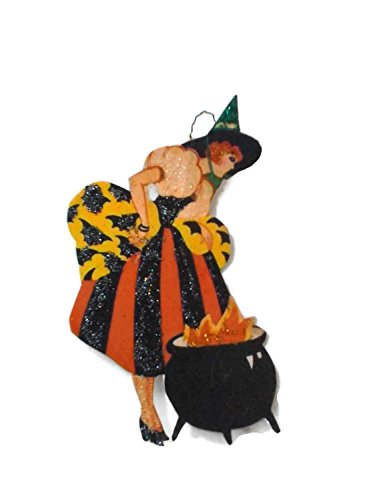 [Halloween Ornament Decoration Art Deco Witch] (Glamour Witch)