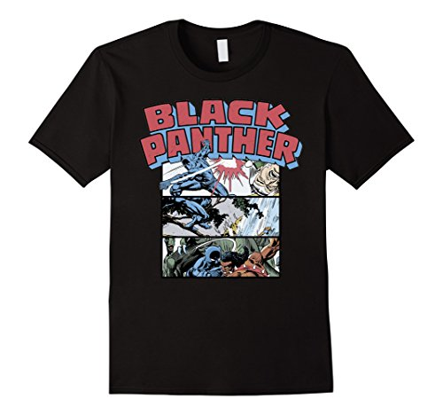 Marvel+Comics+Retro+Shirt Products : Marvel Black Panther Retro Comic Stacked Panel Art T-Shirt