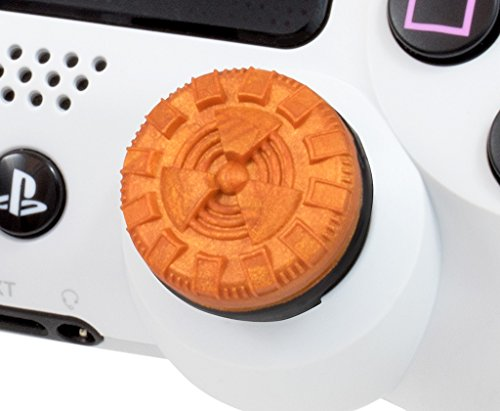 KontrolFreek Atomic for PlayStation 4 (PS4) Controller | Performance Thumbsticks | 2 Mid-Rise Convex | Orange 4