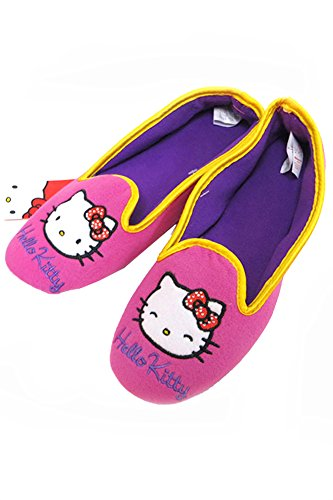 ScarvesMe Licensed Hello Kitty Pink Purple Interior Fleece Slipper (M (7-8)) from ScarvesMe