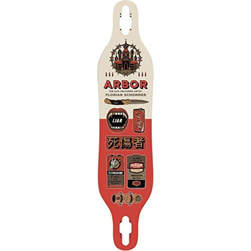 詐欺批判的刈り取るArborアーティスト軸Longboardデッキ-8.8 X 40デッキのみ