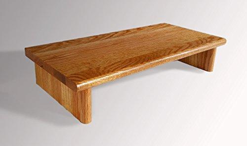 Pedestal Pecan (Monitor Stand # OSTGP30-4 Oak Golden Pecan 30 x 11.25 x 4.88 TV Wood Shelf Riser Furniture Desk Assembled Made in USA NEW)