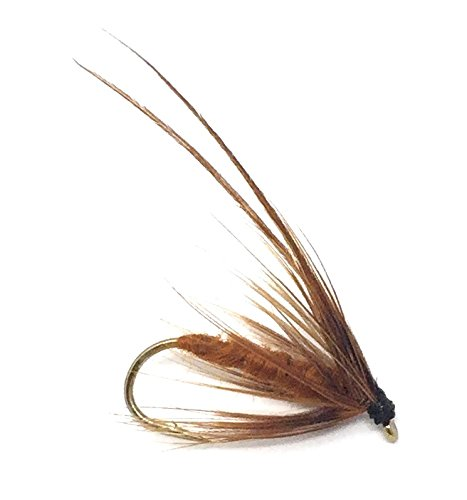 Feeder Creek Fly Fishing Trout Flies - Caddis Mayfly Brown Wet Fly Soft Hackle - Three Size Assorted Variety Size 14,16,18 (4 of Each Size) for Trout and Other Large Freshwater Fish - Hand Tied - Fishing Soft Hackle Flies