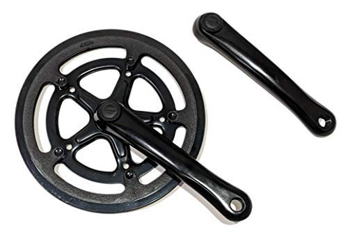 - LASCO 52T Chainring 170mm Aluminum Crank Arms Chainguard Crankset Black Folding Ebike Bicycles