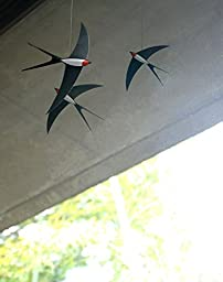Flensted Mobiles 3 Swallow Hanging Mobile - 20 Inches Cardboard