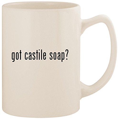 got castile soap? - White 14oz Ceramic Statesman Coffee Mug Cup