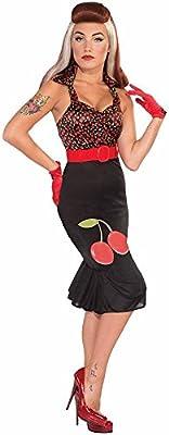 Disfraz de Cherry Anne Rock Pin Up - XS-S: Amazon.es: Juguetes y ...