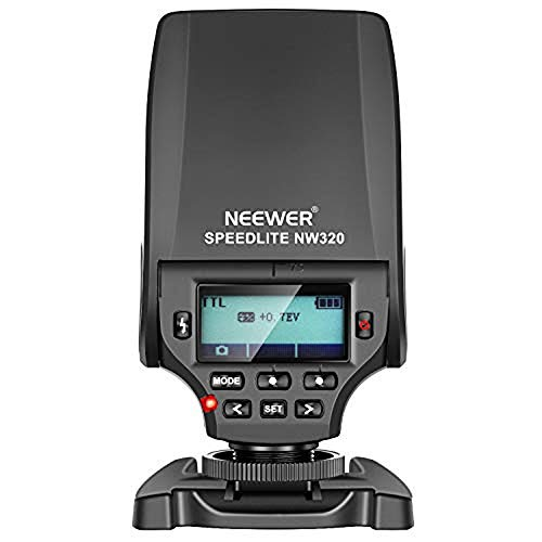 Neewer NW320 Mini TTL Speedlite Flash Automatic Flash Compatible with Sony MI Hot Shoe DSLR and Mirrorless Cameras A6000 A6300 A6500 A7 A7II A7RII A7RIII A7III NEX6 A7SII A7R A7S (Flash For Sony Dslr)