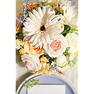 Ling's moment Artificial Gerbera Daisy Flowers Pack of 24 Cream Daisies Flower for DIY Wedding Bouquets Centerpieces Arrangements Home Decor 4