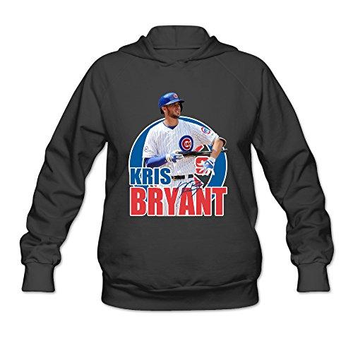 AK79 Women's Hooded Sweatshirt Kris Baseball Player Bryant Size XXL Black (50s Haircuts)