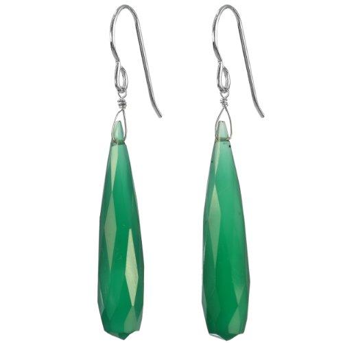 Ashanti-Sterling-Silver-Fine-Emerald-Green-Chalcedony-Briolette-Natural-Gemstone-Handmade-Earrings