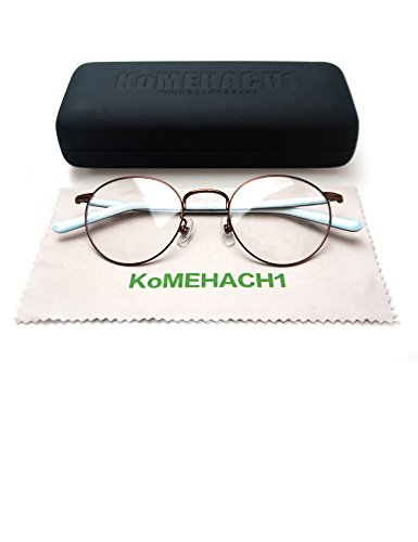 Komehachi - Women Rounded Circle Slim Rimmed Tortoise Eyeglasses Frame with Clear lenses RX-Ready Eyewear - Buy Prescription Can Glasses Non I Where