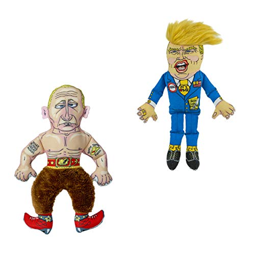"FUZZU Collusion Duo (Donald Trump and Vladimir Putin) Presidential Parody Cat Toy with Organic Catnip - Cat (8"") 2"