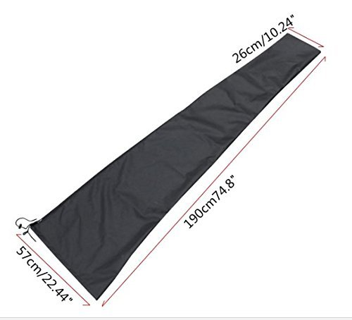 JTW-Lightweight Waterproof Patio Outdoor Umbrella Protective Canopy Cover Bag Fit 6-11 ft W/ Zipper Bag UV-resistant not shrink or deform even in cold weather Polyester black color by JTW