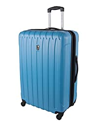 Atlantic Necessity Collection 28-Inch Upright with Expansion, Sky Blue, Checked-Large