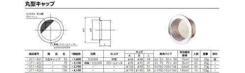 ACE (311-421) 丸型キャップ 50