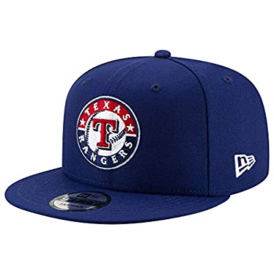 New Era MLB Texas Rangers 9FIFTY Cooperstown Logo Pack Snapback Hat, Adjustable Blue Cap