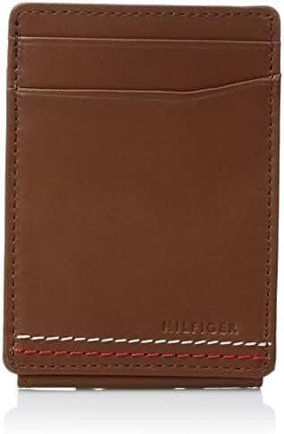 Tommy Hilfiger Men's Front Pocket Wallet with Wide Magnetic Money Clip