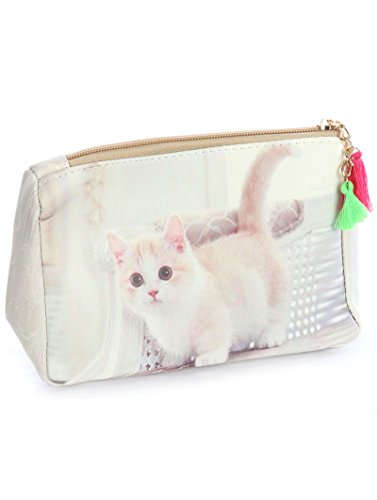 Cat Makeup Kitty (Kitty Cat Kitten Cosmetic Makeup Bag or Pouch)