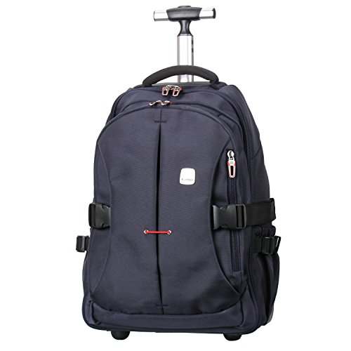 "19"" TSA Checkpoint Friendly Wheeled Backpack, Rolling Carry-on Luggage Travel Duffel Bag for Men,Blue by Porlik (Image #7)"
