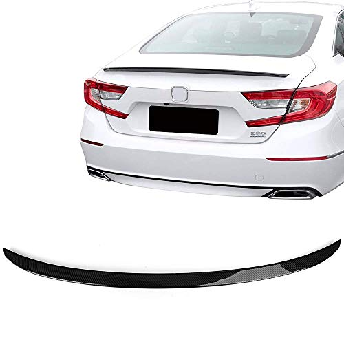 Trunk Spoiler Fits 2018 Honda Accord | Carbon Fiber Look ABS IK Style Rear Spoiler Wing by IKON MOTORSPORTS