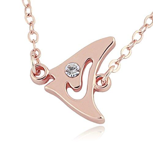 GUANDU Vivid Small Fish Pendant Necklace for Female (Rose (Small Fish Pendant)